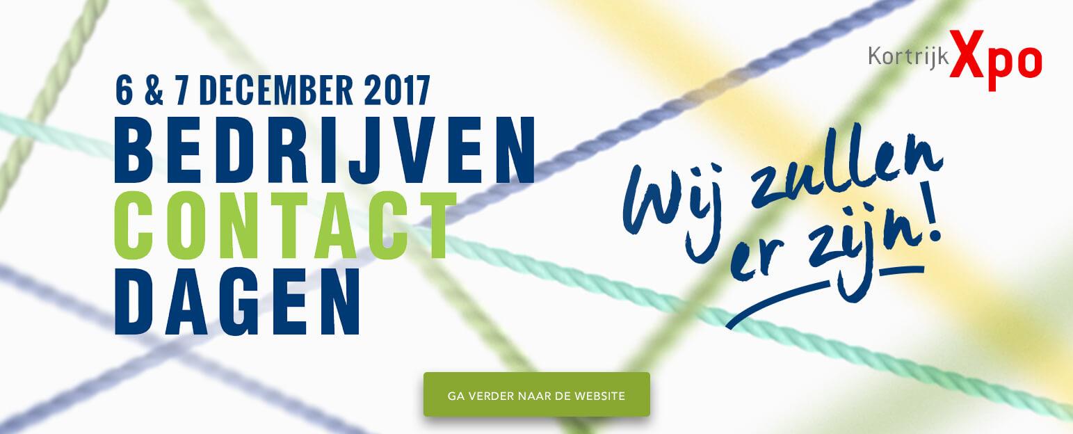 Bedrijven contact dagen 6 & 7 december 2017: Ramen Vandenbroucke zal er zijn!
