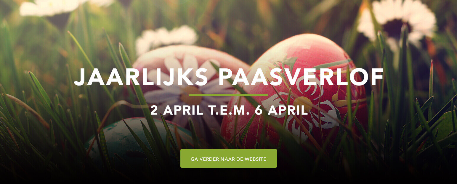 Wij zijn met verlof van 2 april t.e.m 6 april. Vrolijk pages van het volledige Ramen Vandenbroucke team