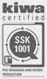 Kiwa certified - SSK 1001